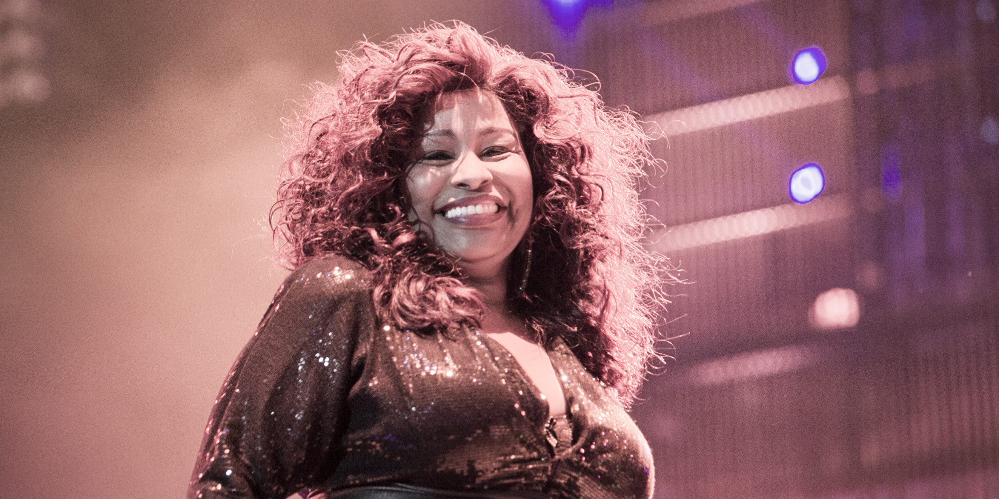 Mirror uk reports chaka khan takes a pause then at a volume barely