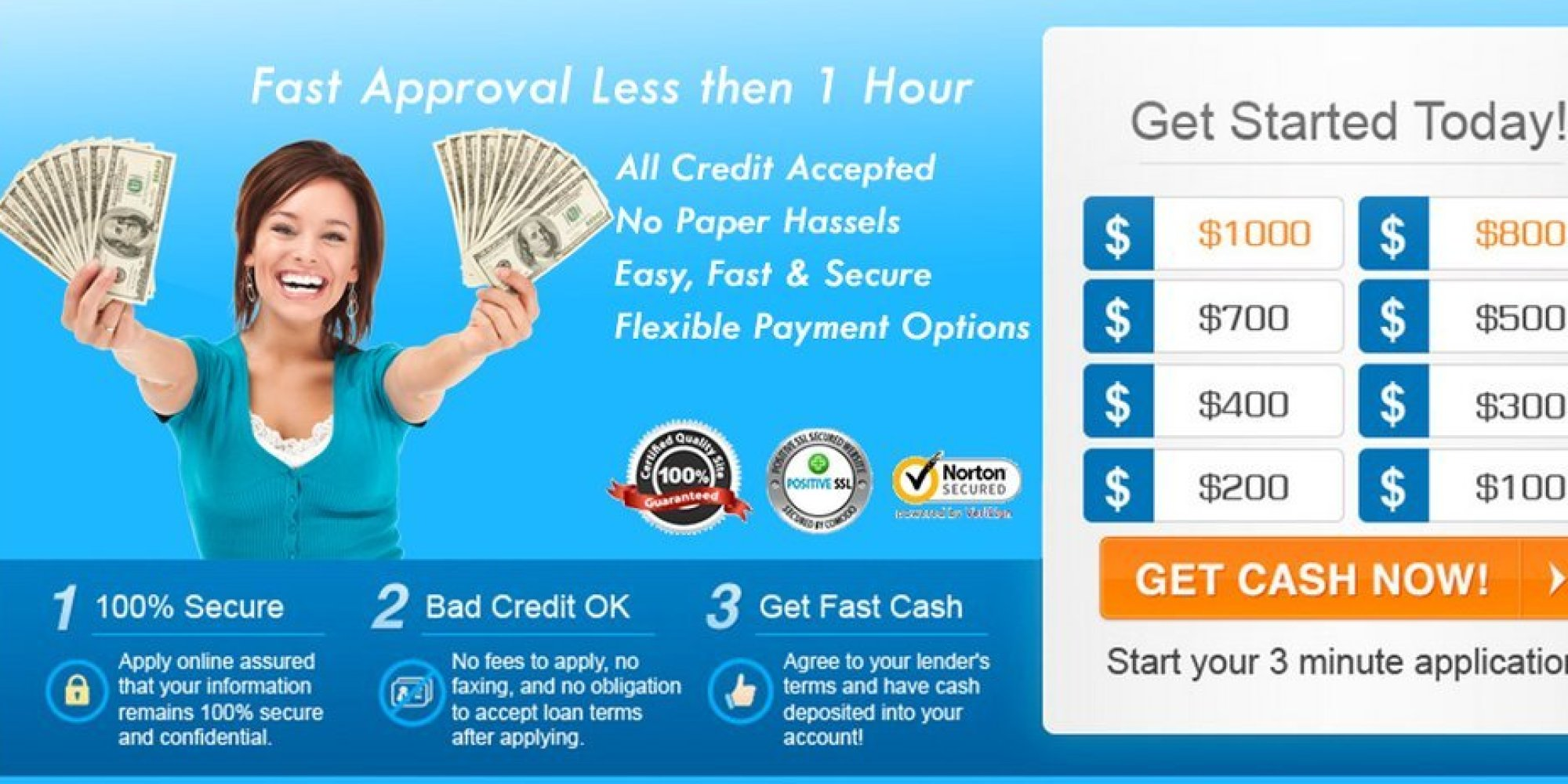 Bad Credit Loans! Fast & Secure!