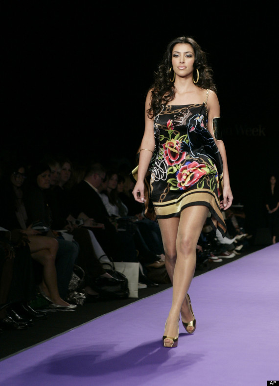 kim kardashian runway