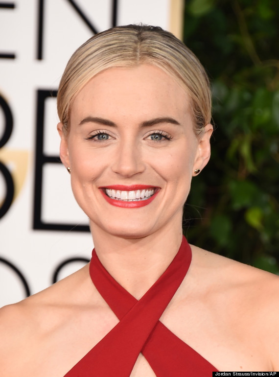Taylor Schilling Looks Utterly Perfect In Red Hot Golden