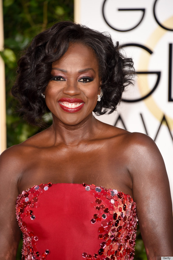 Viola Davis Gets Regal In Red At The Golden Globes And