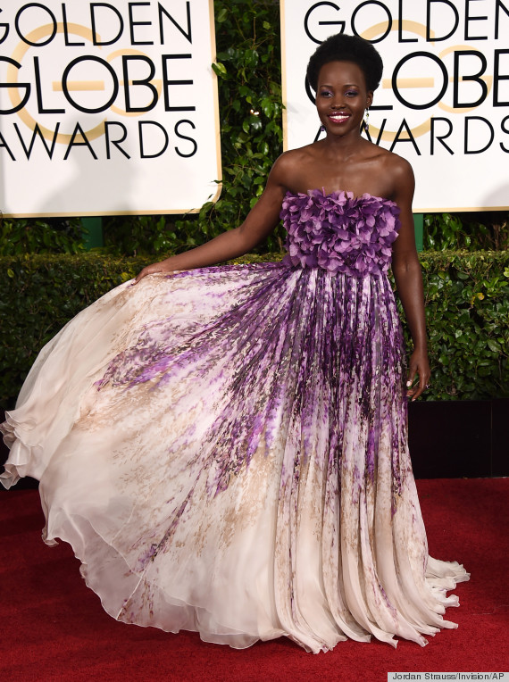Lupita Nyong O Golden Globes Dress Blooms Like An African