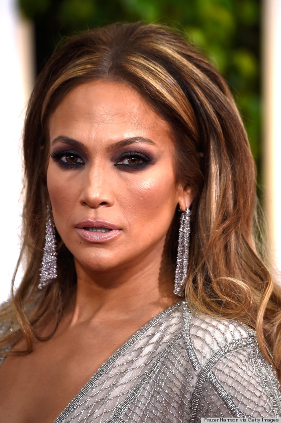 2015 Jennifer Lopez Golden Globes Makeup