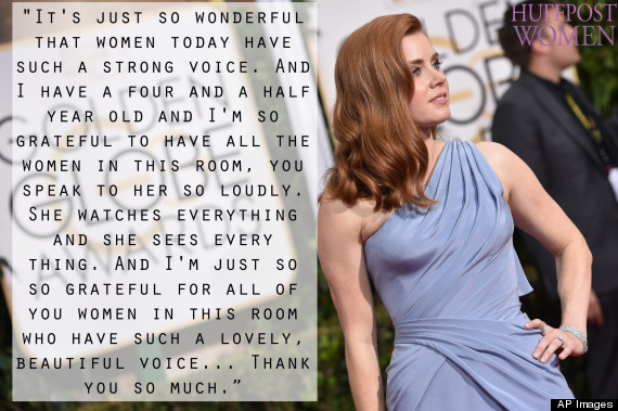 Amy Adams Thanks All The Inspiring Women At The Golden