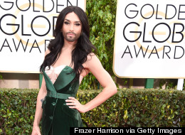 Conchita Turns Heads On Golden Globes Red Carpet