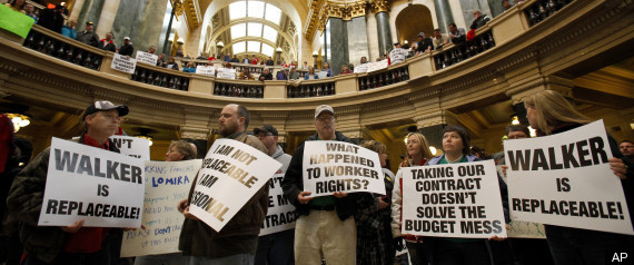 WISCONSIN UNION PROTEST