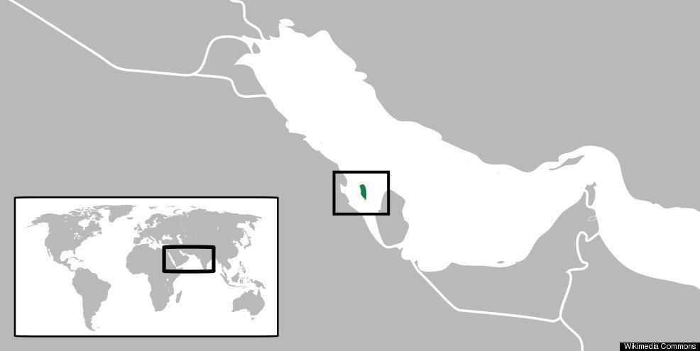Bahrain MAP Population Facts About Mideast Nation HuffPost - Bahrain map