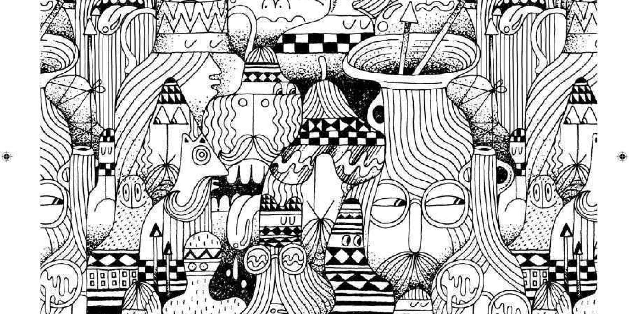 Indie rock coloring book pages - 13 Ways You Can Make Coloring Books A Part Of Your Adult Life Nsfw Huffpost