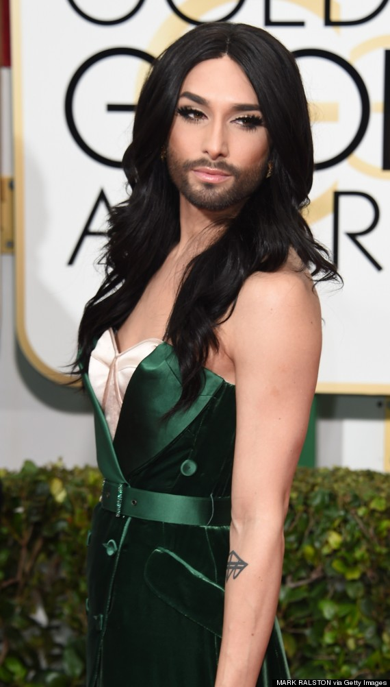 Conchita Wurst Stuns On The Golden Globes Red Carpet | American ...