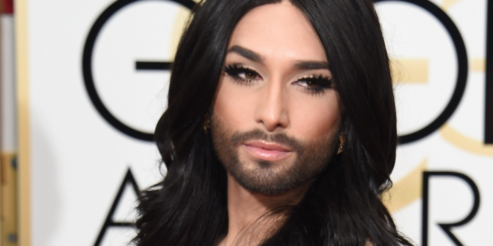 Conchita Wurst Stuns On The Golden Globes Red Carpet