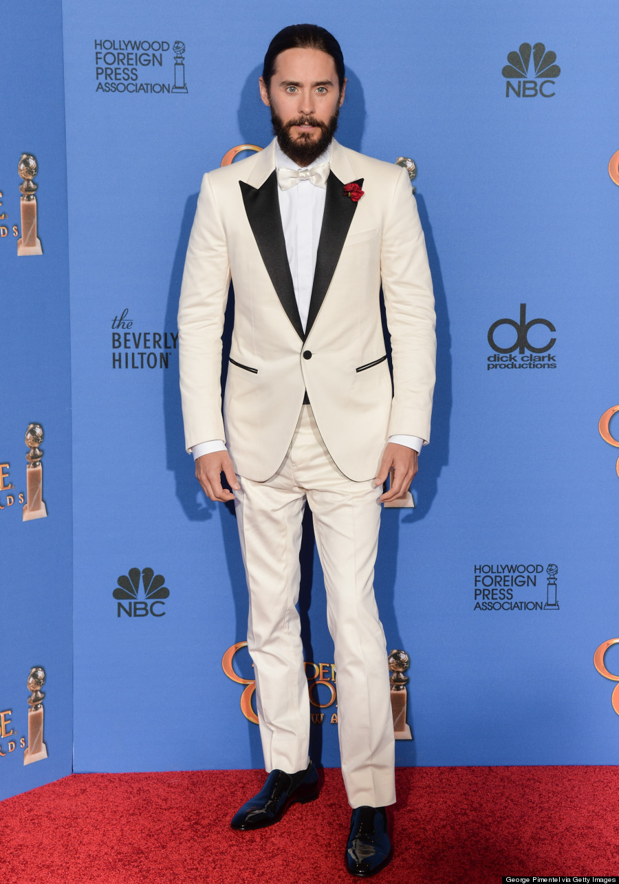 Jared Leto Rocks A Man Braid At The 2015 Golden Globes