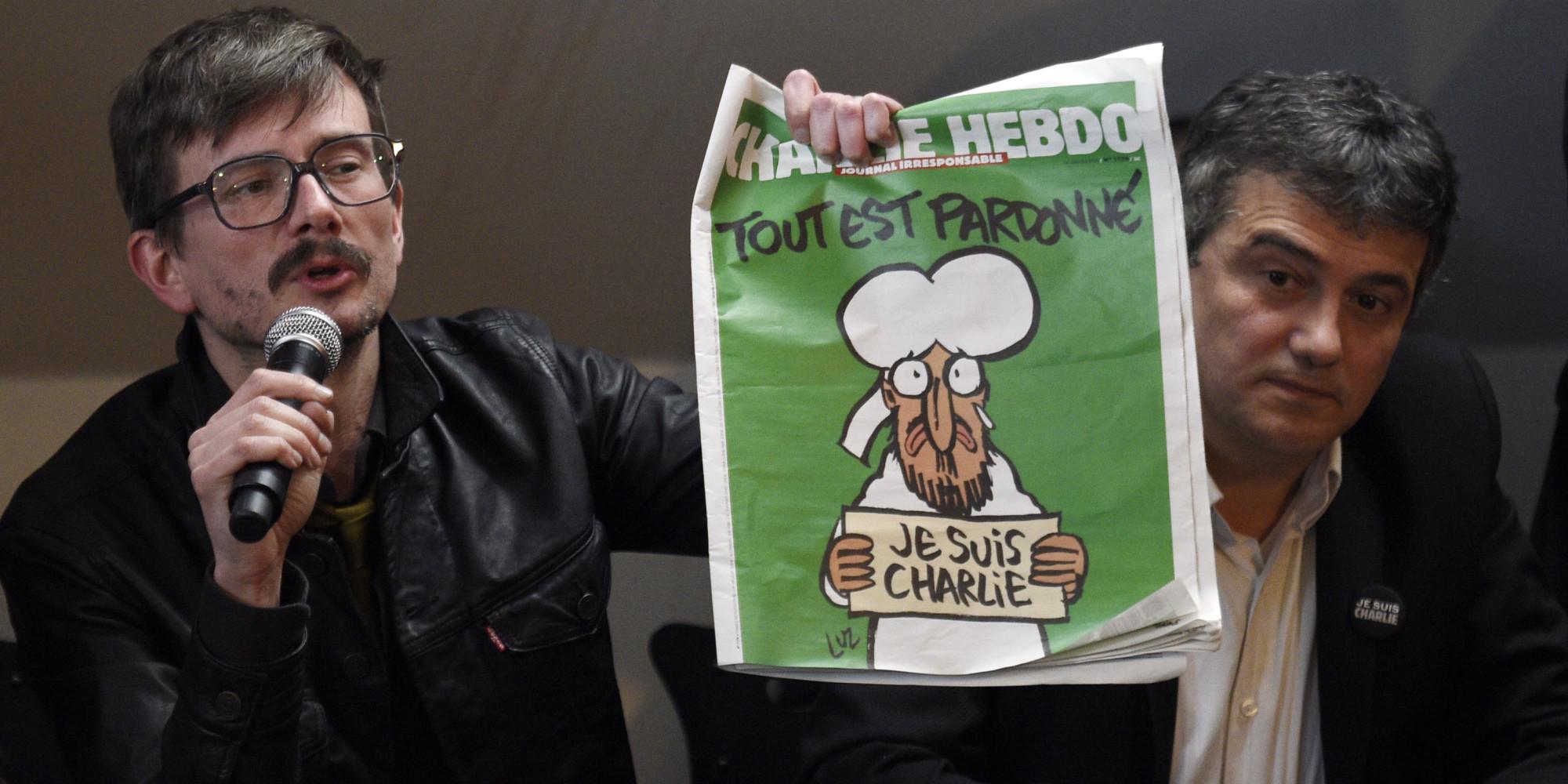 charlie hebdo  la derni u00e8re couverture est  u0026quot un bonhomme qui