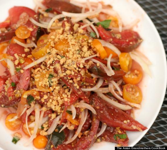burmese tomato salad
