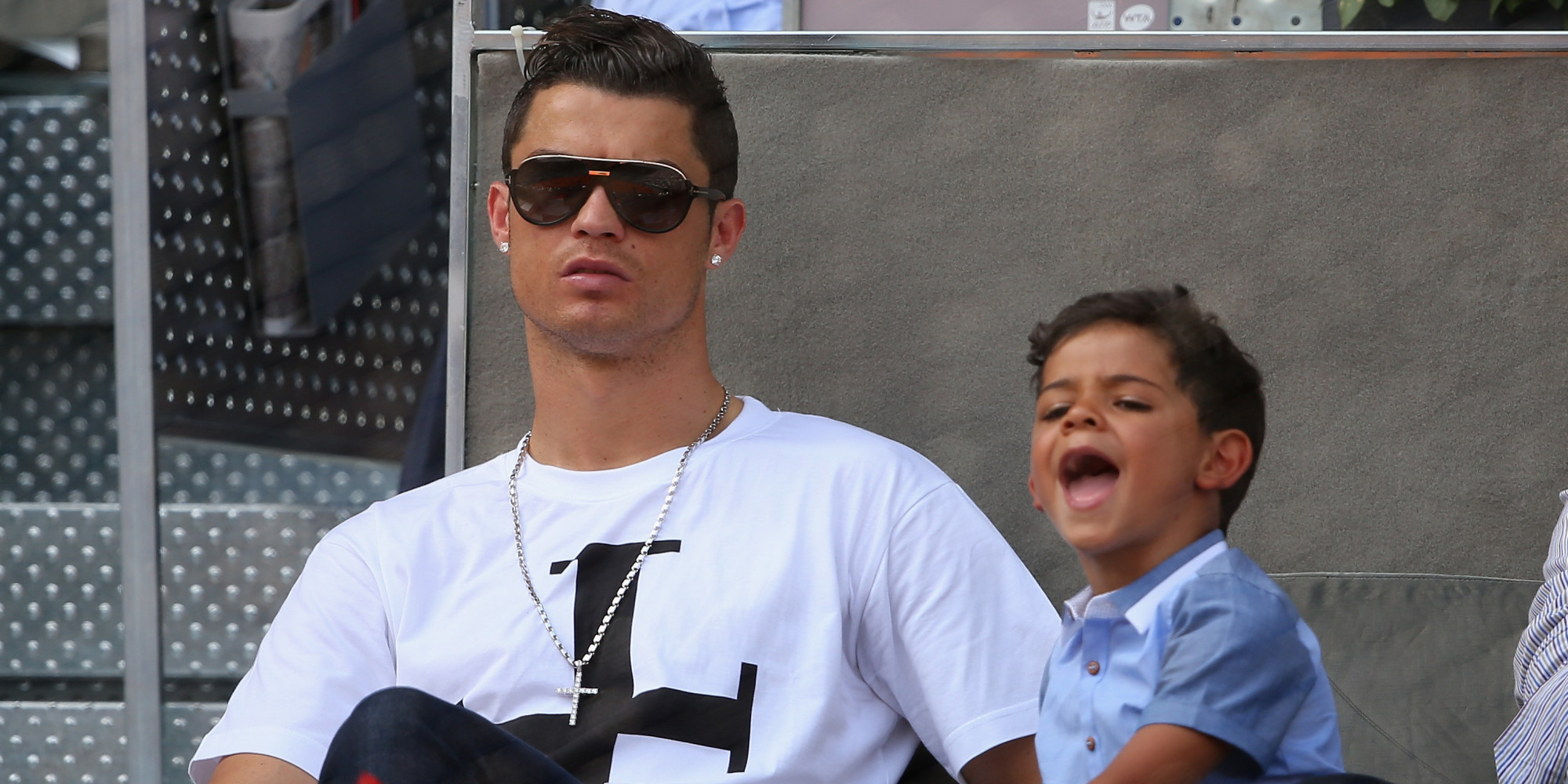 El hijo de Cristiano Ronaldo se emociona al conocer a Lionel Messi ...