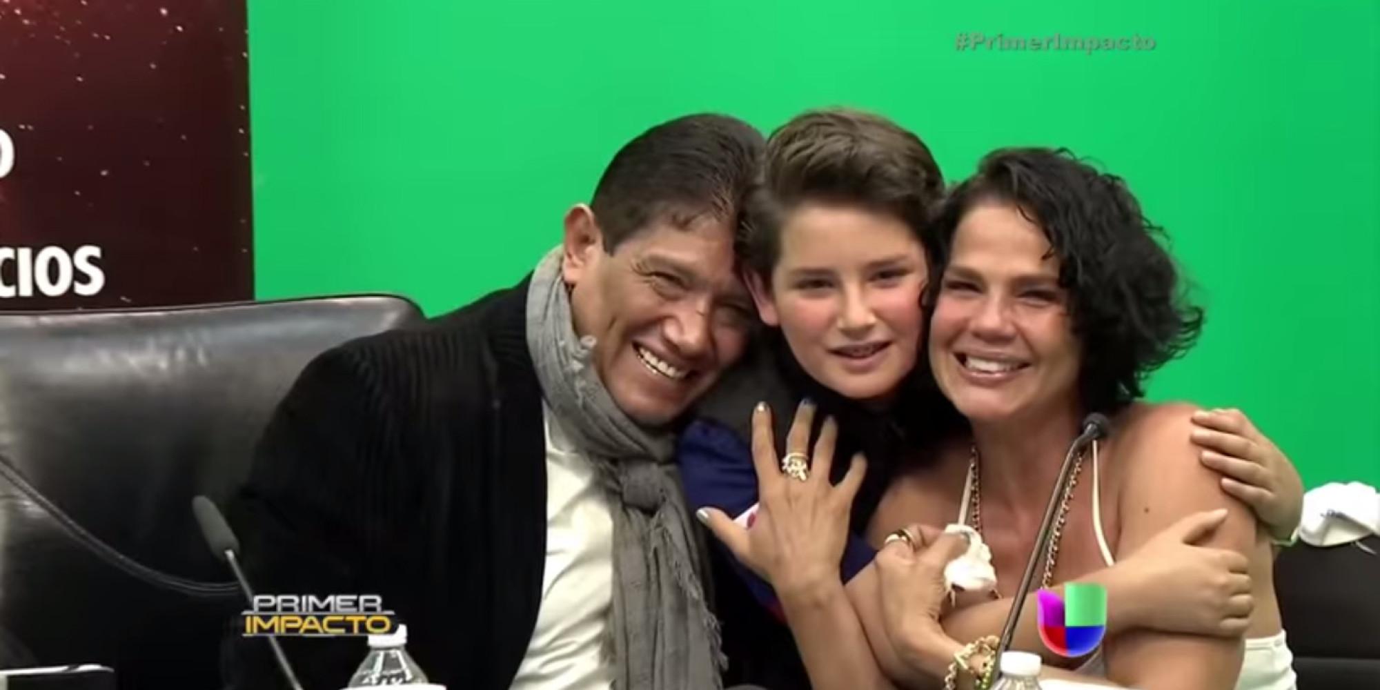 Niurka Marcos y Juan Osorio se reconcilian delante de su hijo