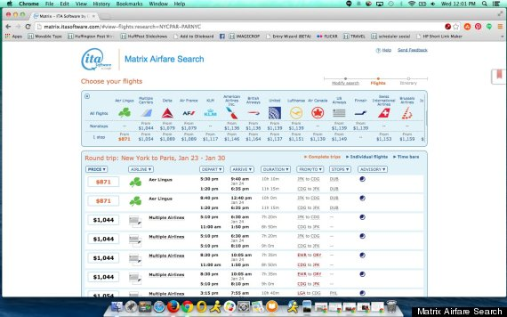 Ita matrix is the magic cheap flights site you 39 ve never for Cheap flights booking sites