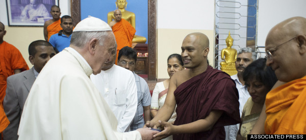 Pope Visits Buddhist Temple In Change To Sri Lanka Schedule