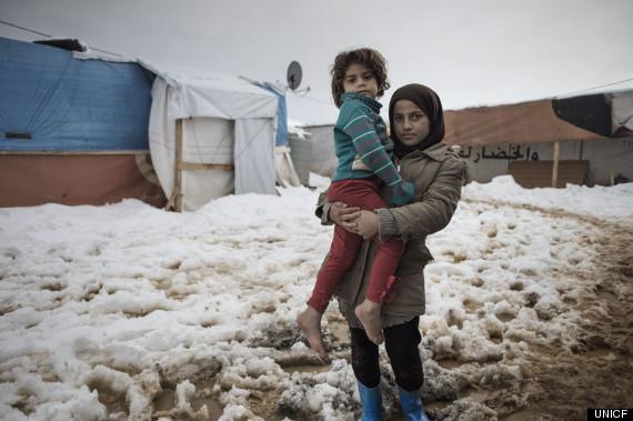 syrian children winter