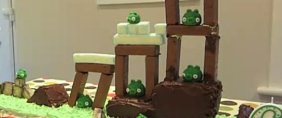 Angry Birds Playable Birthday Cake