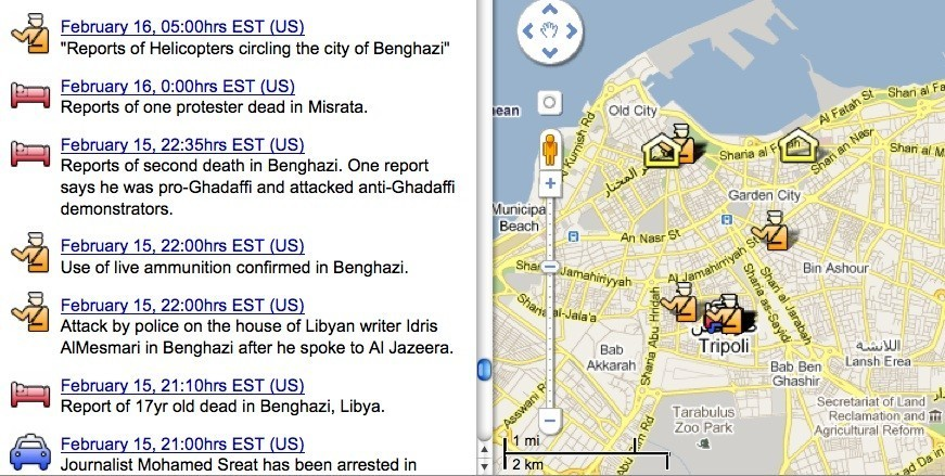 Protests In Libya, Bahrain Visualized Using Twitter, Google