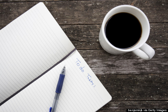 coffee and list