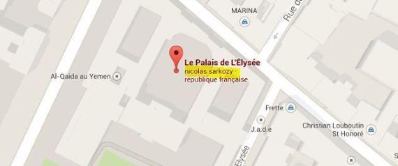 sarkozy google maps