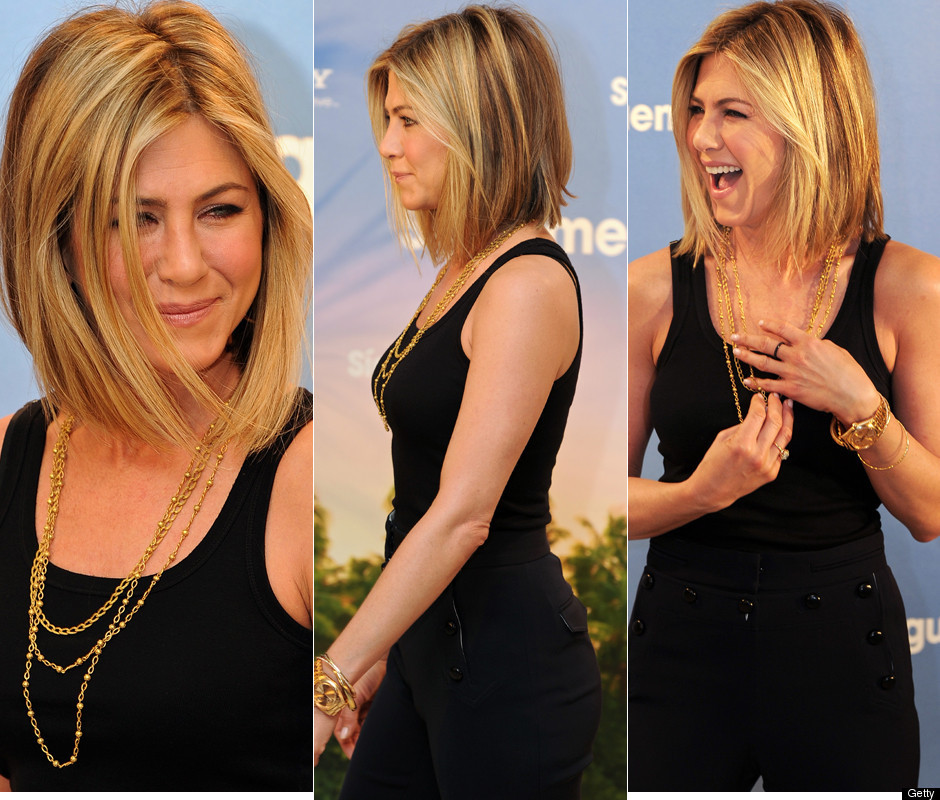 Jennifer Aniston Debuts New Haircut In Madrid Photos Poll Huffpost