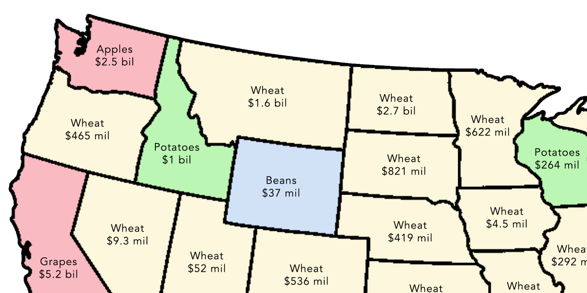 2 Simple Maps That Reveal How American Agriculture Actually Works Huffpost