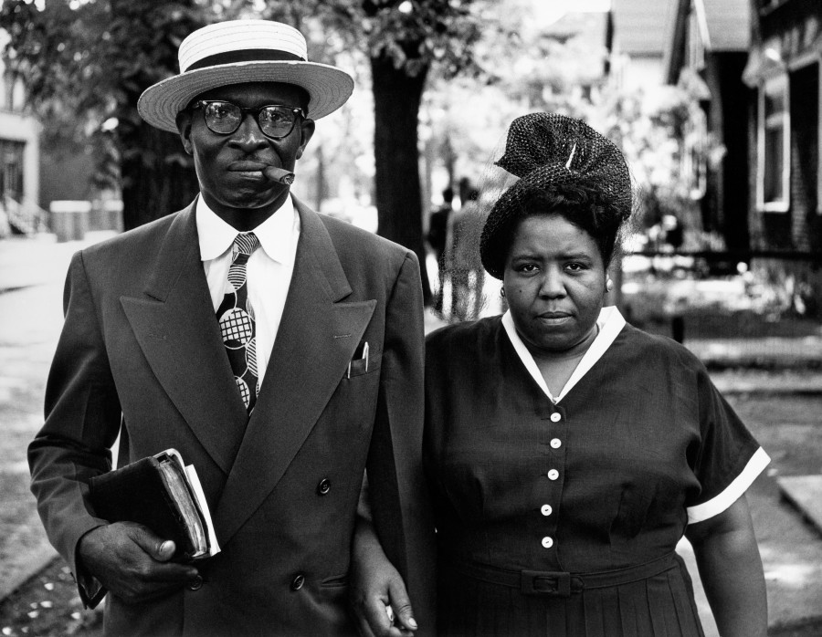 Husband and wife sunday morning detroit michigan 1950