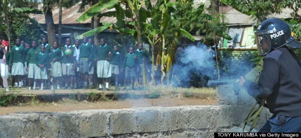 Kenyan Police Accused Of Tear-Gassing Schoolchildren In Protest Over Playground