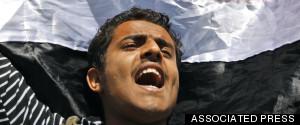 ARAB SPRING MAN PROTESTING