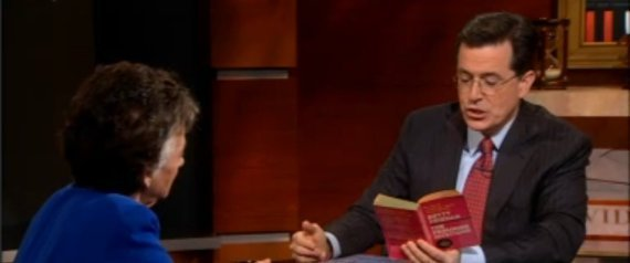 books featured on the colbert report 2011 This is probably one of my favorite interviews on the colbert report author and  bookstore owner (parnassus books) ann patchett holds her.
