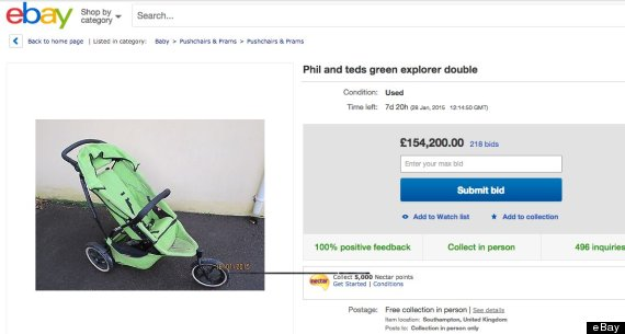 buggy ebay funny auction