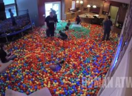 Prankster Dad Turns His House Into A Giant Ball Pit
