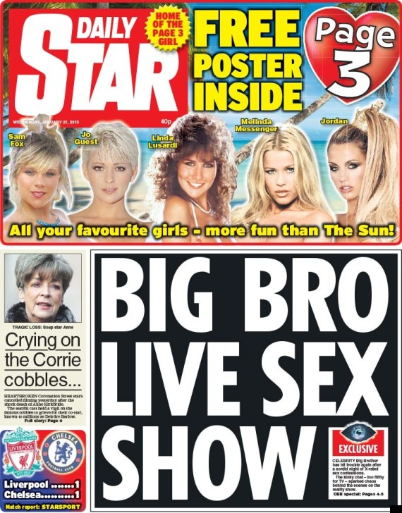 Daily Star Gleefully Claims To Be 'More Fun Than The Sun ... Daily Star