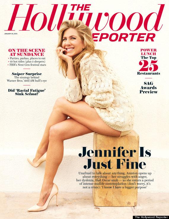 Jennifer Aniston's Legs Grace The Cover Of The Hollywood ...