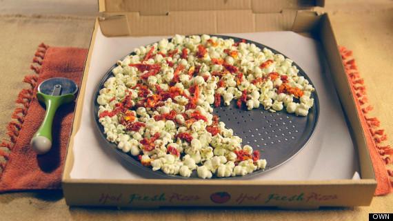 pizza popcorn snack healthy