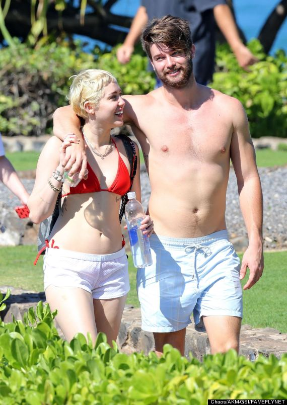 Miley Cyrus Rocks A Red Bikini For Fun In The Sun With