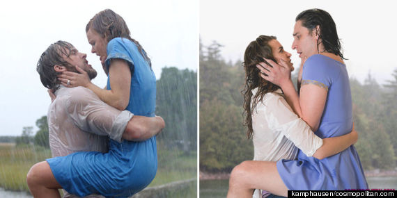 iconic movie kisses reenacted by real people are amazingly