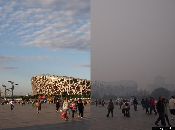 beijing birds nest pollution