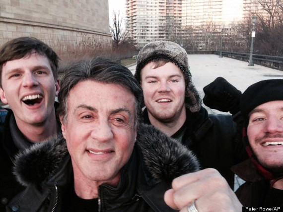 sylvester stallone rocky selfie