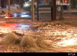 Hollywood Water Main Break Causes Sinkhole Near Oscars