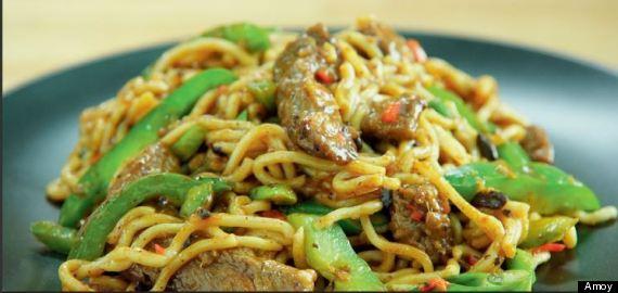 cantonese black bean noodle