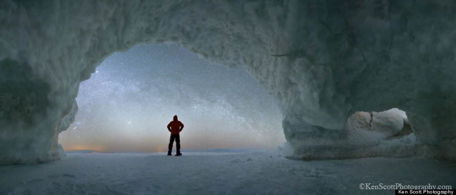 ice cave with sky