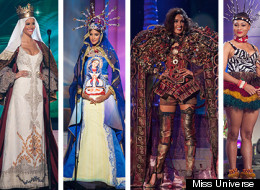 Los locos trajes típicos de las candidatas a Miss Universo