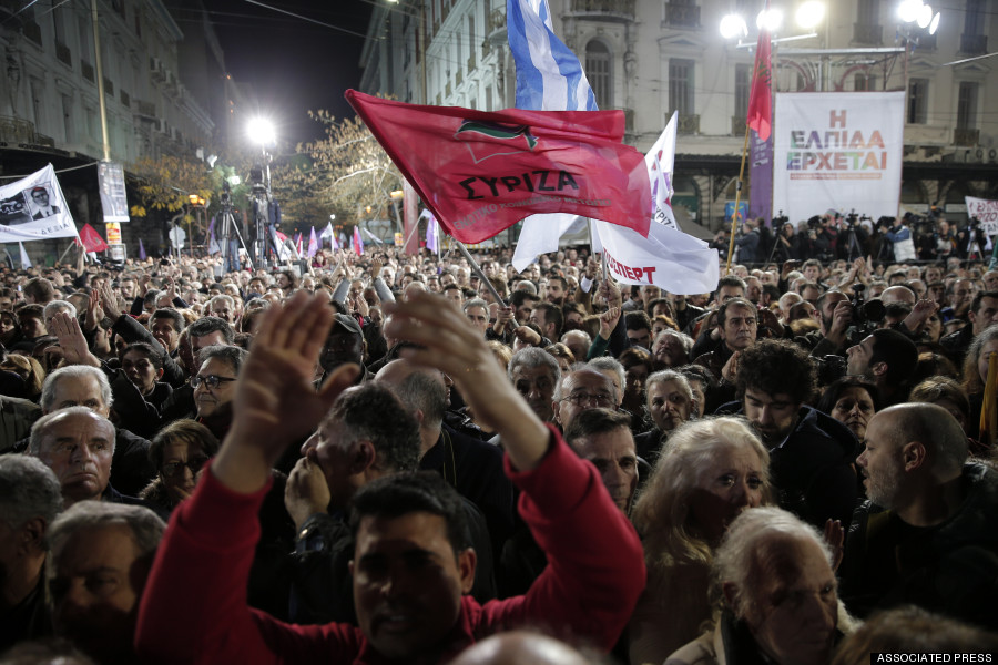 Syriza demonstration