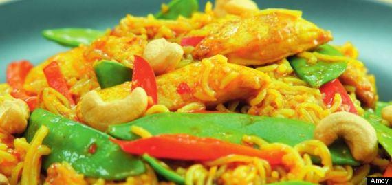 singapore chicken noodles