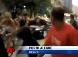 Car Runs Down Bicyclists Brazil