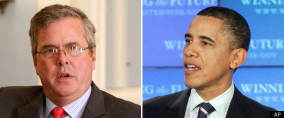 Obama Jeb Bush Education