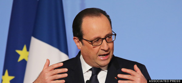At Davos, French President Sets Climate Change At Center Stage